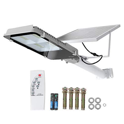 Asixx 300W Farola LED, Lámpara Calle Focos LED Exterior Panel Solar con Control Remoto Luces Solares para Calle, Campo, Jardín