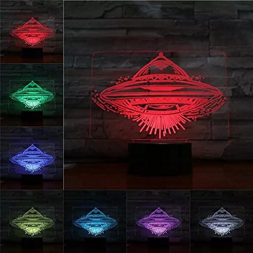 Ovni 3D Presentación En Luce Notturna Lámpara Led 7 Colores Cambiar Usb Acrílico Luz De Noche Pequeñas Luces De Navidad Para Niños Juguetes