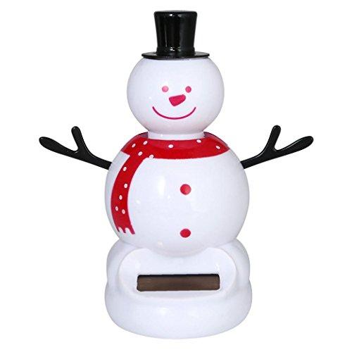 Malloom® Neue Solarbetriebene Tanz Weihnachten Swinging Animierte Bobble Tänzer Spielzeug Auto Dekor (A)