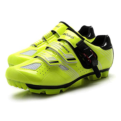 FACAI Rennradschuh Fahrradschuhe Hombre Triathlon Fahrradschuhe Herren MTB Schuhe Für Mountainbike,Yellow-44