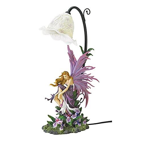 "StealStreet SS-EG-38832 Orchid Fairy Table Lamp, 17.38"""