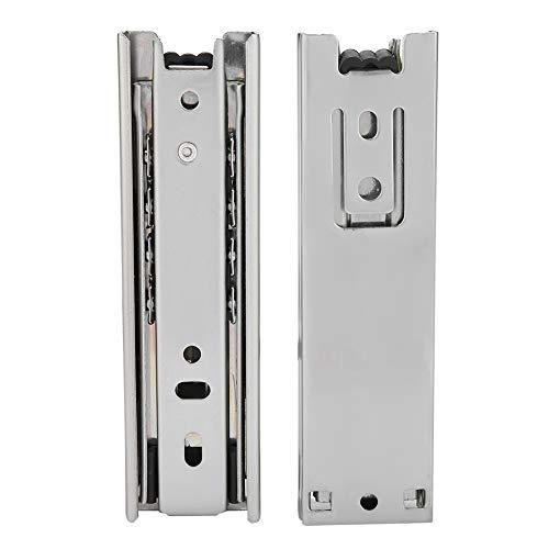 FTVOGUE 2 stuks 5 in Mini Breve lade meubellade schuifdeur geleiderail uittrekbare keukenkast hardware voor kasten en kasten