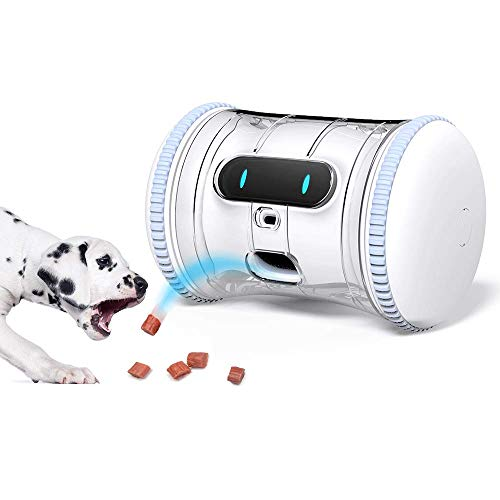 VARRAM Pet Fitness Robot: Interactive Treat Dispenser and Companion Robot for Dogs & Cats, Schedule Automatic Play, Activity Monitoring, Treat Tossing, Manual Play via App