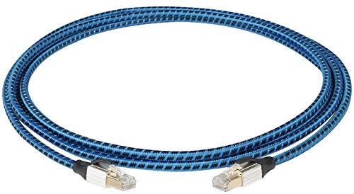 JIB Boaacoustic Blueberry - Cable de señal Ethernet (10 m, cat. 6 A, 10 Gbp/s, 700 MHz, 24 K, para las necesidades de un moderno Ethernet de 10 Gigabit)