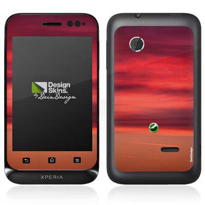 DeinDesign Folie kompatibel mit Sony Xperia Tipo Aufkleber Skin aus Vinyl-Folie Sonnenuntergang...