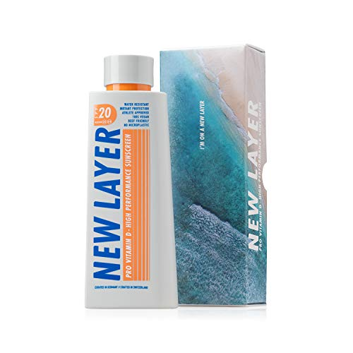 NEW LAYER Sonnencreme | LSF 20 | Pro Vitamin D | Frei von Mikroplastik | Reef-friendly | Frei von Octocrylenen | Wasserfest (200ml)