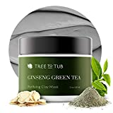 Activated Clay Face Masks for Women by Tree to Tub - Non Peel Off Clay Masks - Deep Cleansing Face...