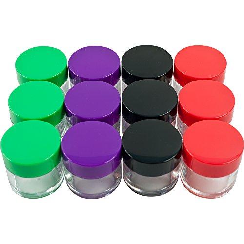 Stalwart Lot de 12 20 ml Code couleur Plastique bocaux