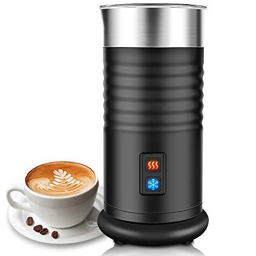 TOPERSUN Montalatte elettrico automatico 400W per Schiuma Calda Fredda Montalatte in Acciaio Inox con Rivestimento Antiaderente per Latte caffè cappuccino latte macchiato
