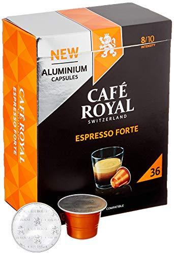 Café Royal Espresso Forte 36 Nespresso®* kompatible Kapseln aus Aluminium, Intensität 8/10