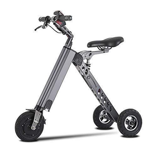 BYYLH Bicicleta Electrica Plegable Paseo Fat E-Bike Unisex Triciclo Portátil