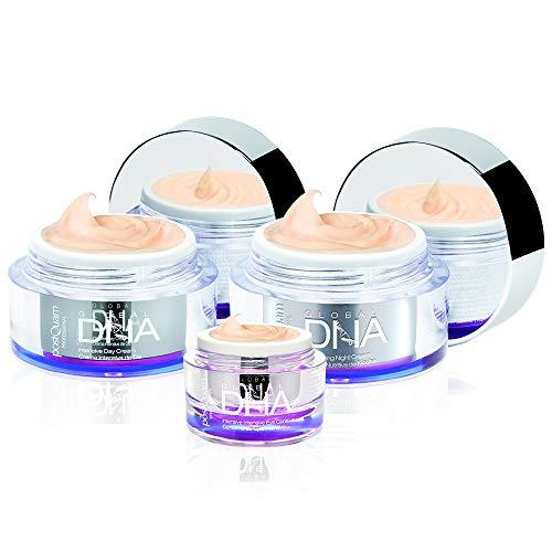 Postquam - DNA | Pack Crema de Día Antiedad 50 ML + Crema de Noche Antiarrugas 50 ML + Crema Contorno de Ojos Antibolsas 15 ML