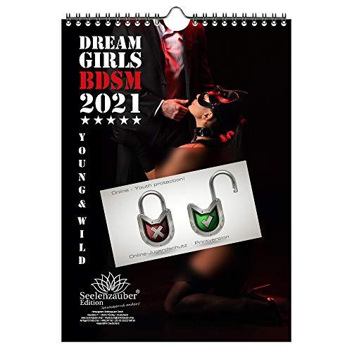Calendario de pared 2021 (21,0 x 29,7 cm) chicas eróticas BDSM sexy Girls - Contenido del set de regalo: 1x calendario, 1x tarjeta de Navidad y 1x tarjeta de felicitación (3 partes en total)