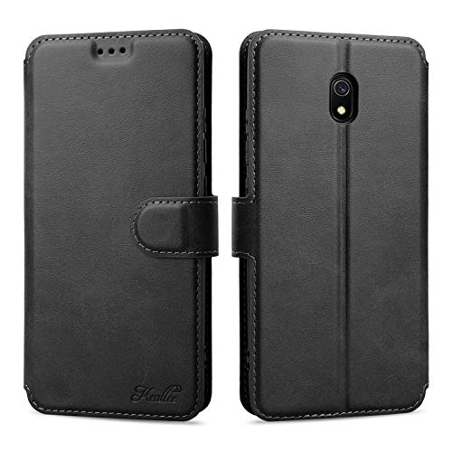Keallce für Xiaomi Redmi 8A Hülle, Handy Lederhülle PU Leder Hülle Brieftasche Handytasche Cover Kompatibel für Xiaomi Redmi 8A Ledertasche-6.22