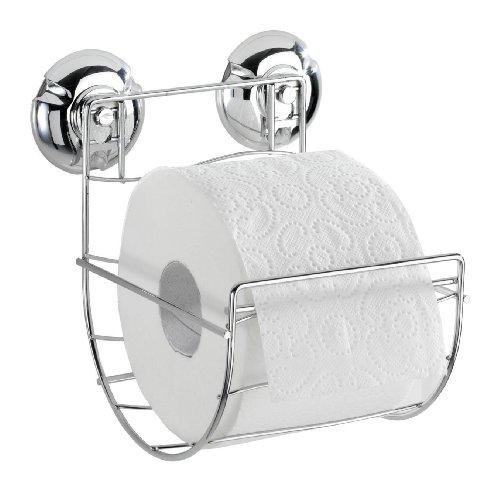 Wenko 16968100 Toilettenpapierhalter Milazzo Super-Loc - Befestigen ohne Bohren, Chrom, 13.5 x 15 x 14 cm
