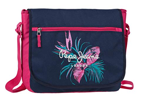 Pepe Jeans - Honey Mochila Escolar, 11.78 Litros, Color Azul