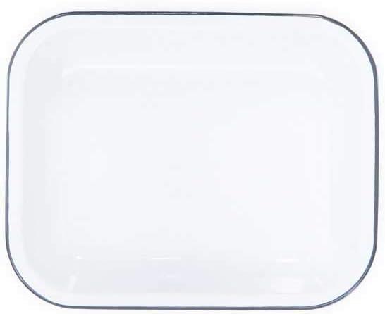 Crow Canyon Petit plat à rôtir Vaisselle Solide White with Grey Trim Solide White With Grey Trim