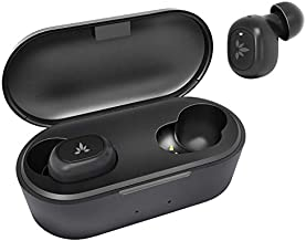 Avantree TW115 Tiny True Wireless Bluetooth 5.0 Earbuds Earphones for Small Ear Canals, with Noise Isolation & Mic, Secure Fit for Sport, 36H in Ear Headphones with Wireless Charging Case (Black)