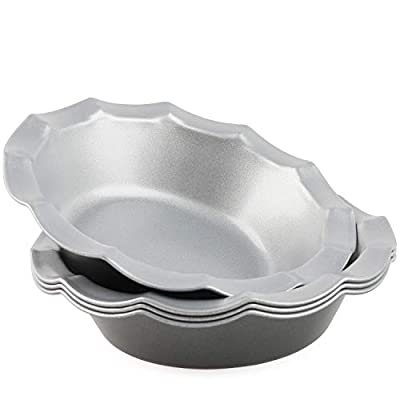 Mini Pie Pans Set of 4 Small Pie Tins Nonstick Round Pie Plate for Baking