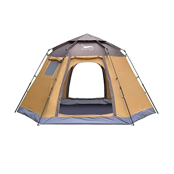 DESERT & FOX Pop-up Automatic Tents, 4-5 Person Outdoor Instant Setup Family Tent with Backpacking Bag for Hinking, Camping, Travelling