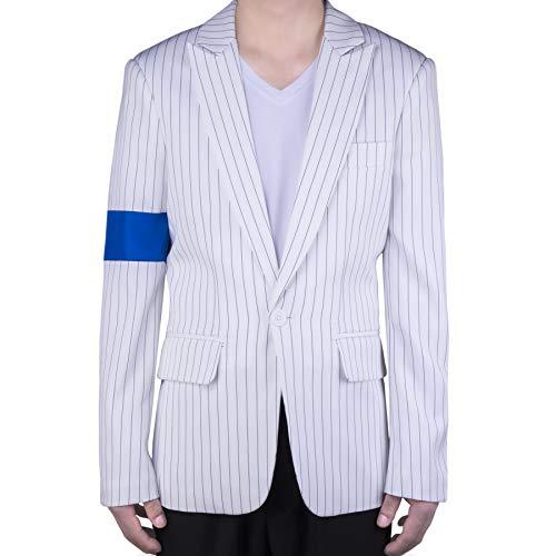MJB2C Style of Michael Jackson Smooth Criminal Armband Anzug Jacke - Weiß - Medium