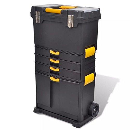 CASTLOVE Tragbarer Werkzeugkoffer Trolley Werkzeugaufbewahrung