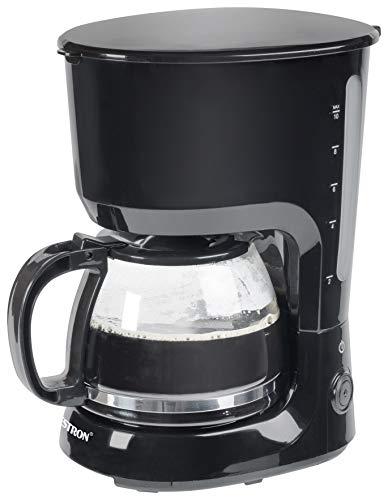 Bestron Kaffeemaschine mit Warmhalteplatte, Für gemahlenen Filterkaffee, 10 Tassen, 750 Watt, Schwarz