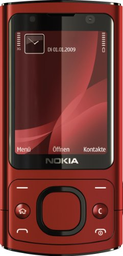 Nokia 6700 Slide Handy (UMTS, GPRS, Bluetooth, Kamera mit 5 MP, Musik-Player) red