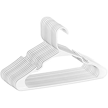 Zoyer Standard Plastic Hangers - Durable and Strong - White (20)
