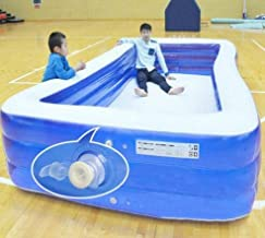 Above-Ground Swimming Pool Outdoor Inflatable Children and Adults Family Thickened Version Swimming Pool (Blue,3.8m)