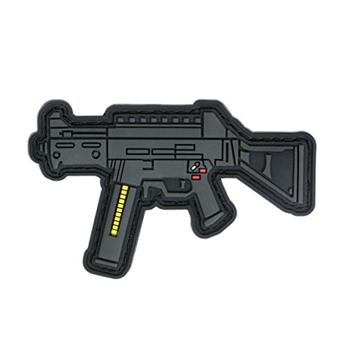 TaiwanGun UMP Gun Rifle Airsoft PVC Patch 3D
