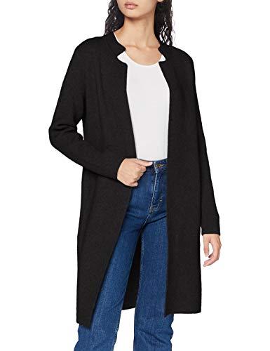 Morgan Gilet Long MBLOCK Cardigan Sweater Femme, Noir, M