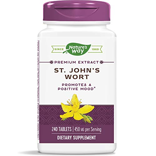 Nature's Way St. John's Wort Standardized Extract Mood Support, 450 mg per serving, 240 Count (Packaging May Vary)