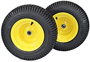 (Set of 2) 16x6.50-8 Tires & Wheels 4 Ply for Lawn & Garden Mower Turf Tires .75