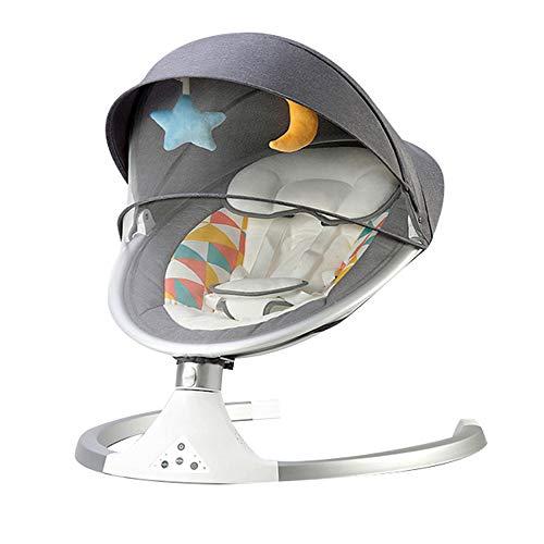 YYR Babyschaukel, Bluetooth Baby Schaukelstuhl, 5 Schaukel Amplitudes & Timing-Funktion, Lautstärkeregelung,...