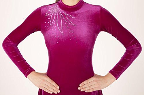 EMZA Eiskunstlaufbekleidung für Kinder und Erwachsene (Türkis, Größe: 140-146/ Alter: 9-11 Jahre)
