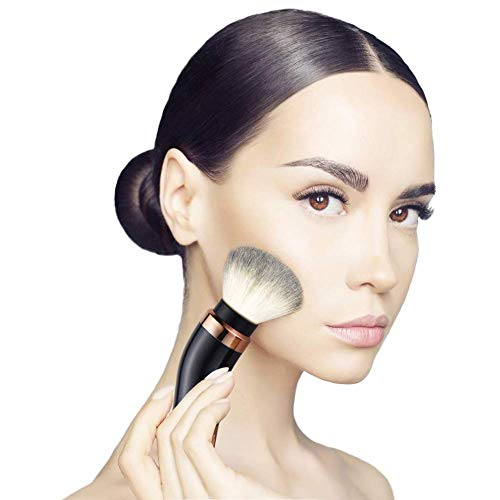 Brosse tournante électrique de Maquillage, Brosse cosmétique rotative de degré 360 avec la Fondation synthétique de Haut de Gamme et Les Heades de Fard à Joues, 2 têtes de Brosse incluses