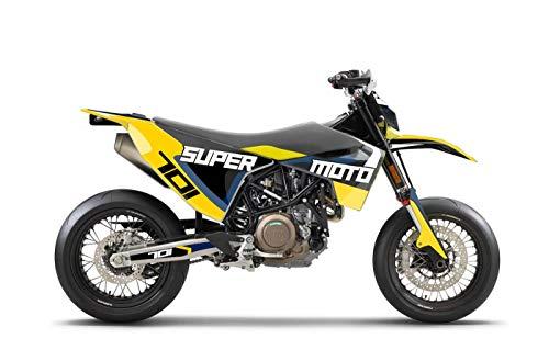 ARider Dekor für Husqvarna 701 2016-2021 Supermoto Edition (Gelb)
