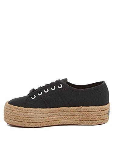 Superga 2790-COTROPEW, Zapatillas Mujer, Negro (Nero 999), 39 EU (5.5 UK)