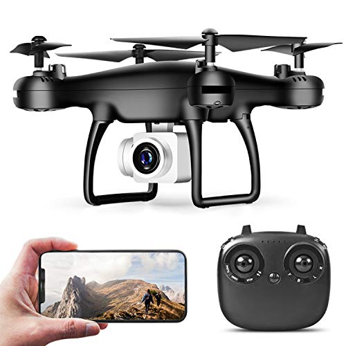 AUTERCO Drones with Camera for Adults,Drones for Kids,RC Quadcopter Drone, 30 Minutes Long Flight Time Drone,Drone with 720p HD,Beginners and boy Girls Best Gift(2 Batteries)(Black)