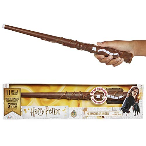 Jakks Pacific-73210 Feature Wizard Wands Harry Potter-Bacchetta Magica interattiva di Hermione, Multicolore, 73210