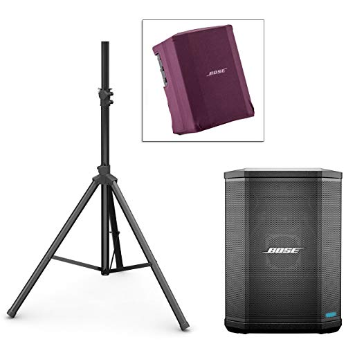Bose S1 Pro PA System w/Speaker Stand & Play-Through Cover - Night Orchid Red