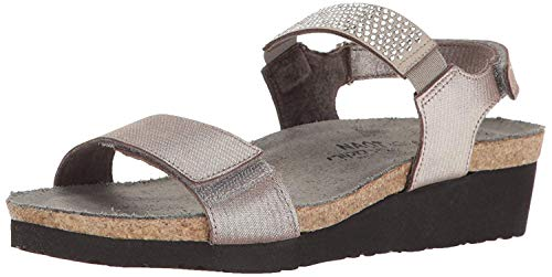 NAOT Lisa Silver Threads Leather 38 (US Women's 7)