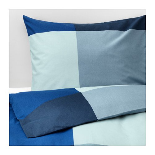 IKEA BrunkrisslaTwin Duvet Cover and Pillowcases Blue Gray 703.754.01