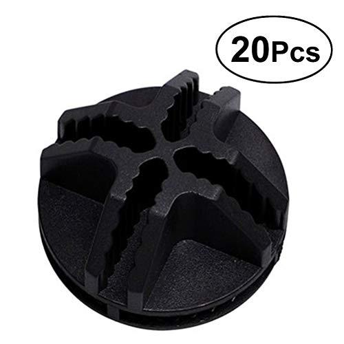 VOSAREA 20Pcs Conectores de plástico de Cubo de Alambre para el Armario del Organizador Modular y Almacenamiento de Cubo de Rejilla de Alambre (Negro)