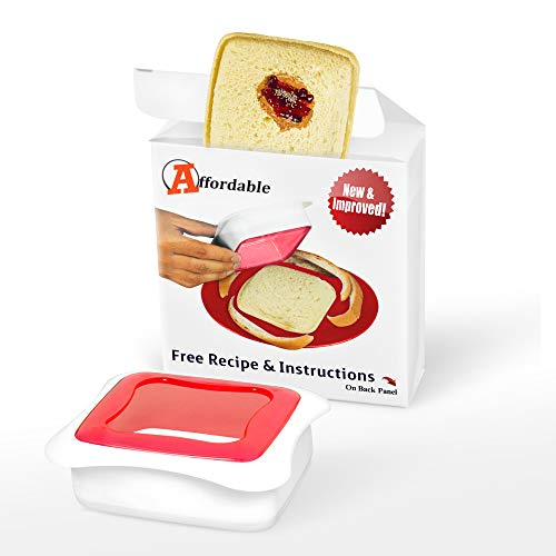 Affordable Sandwich Cutter and Sealer for Kids Lunch Box and Pocket Sandwich Maker, Remove Bread Crust, Make DIY Pocket Sandwiches