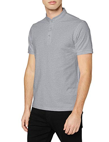 Celio Herren REBIMAO Polo Hemd, Heather Grey, S