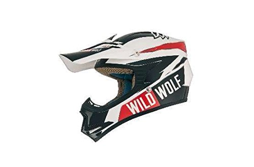 Shiro Casco Mx-306 Wild Wolf Kids