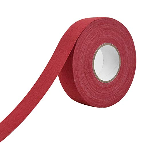 WEONE Nastro Tessuto per Hockey, 23m Nastro Bastone da Hockey, Adesivo Nastro Antiscivolo per Impugnatura da Badminton, Racchetta da Ping Pong, Corda Saltare, Golf, Racchetta Squash Tennis (Rosso)