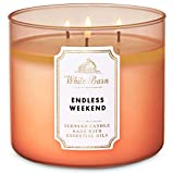 White Barn Bath and Body Works Endless Weekend 3 Wick Scented Candle 14.5 Ounce (2020)